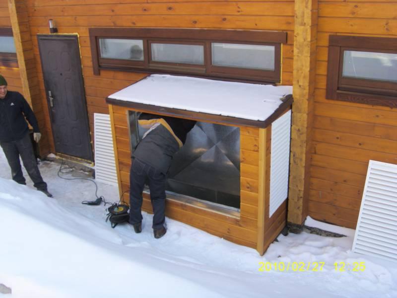 Монтаж систем вентиляции в отеле Абзаково.