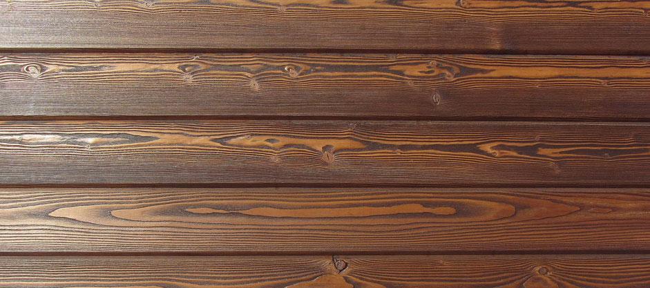 Имитация бруса из лиственницы на фасаде